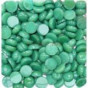 Кабошоны 15 мм круглые из зеленой хризопразы
