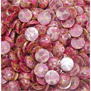 Кабошоны 15 мм круглые из розовой мозаики