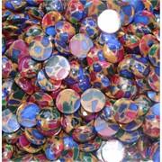 Кабошоны 15 мм круглые из цветной мозаики