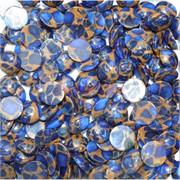 Кабошоны 15 мм круглые из синей мозаики