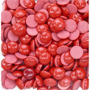 Кабошоны 15 мм круглые из красного коралла
