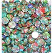 Кабошоны 15 мм круглые цветная мозаика
