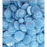 Кабошоны 20 мм круглые из голубого аквамарина