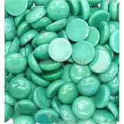 Кабошоны 20 мм круглые из зеленого хризопраза