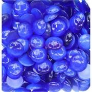 Кабошоны 20 мм круглые из синего кошачьего глаза