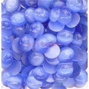 Кабошоны 20 мм круглые из голубого кошачьего глаза