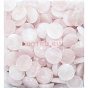 Кабошоны 20 мм круглые из розового кошачьего глаза