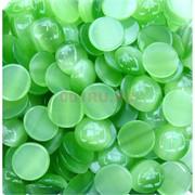 Кабошоны 20 мм круглые из зеленого кошачьего глаза