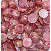 Кабошоны 20 мм круглые из розовой мозаики