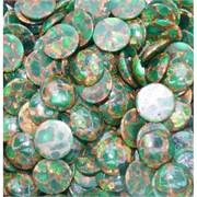 Кабошоны 20 мм круглые из зеленой мозаики