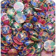 Кабошоны 20 мм круглые из цветной мозаики
