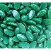 Кабошоны 9x16 овальные из темно-зеленого хризопраза