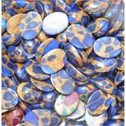 Кабошоны 12x16 овальные из синей мозаики