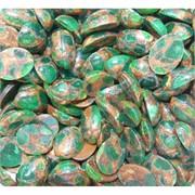 Кабошоны 12x16 овальные из зеленой мозаики