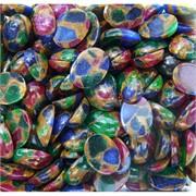 Кабошоны 12x16 овальные из цветной мозаики