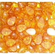 Кабошоны 10x15 капля из желтого янтаря
