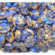 Кабошоны 13x18 овальные из синей мозаики