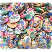 Кабошоны 13x18 овальные из цветной мозаики