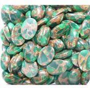 Кабошоны 13x18 овальные из зеленой мозаики