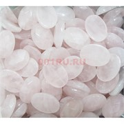 Кабошоны 13x18 граненые из розового кварца