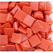Кабошоны 14x14 квадратные из оранжевого коралла