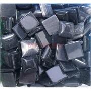 Кабошоны 14x14 квадратные из черного кошачьго глаза