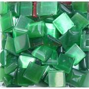 Кабошоны 14x14 квадратные из зеленого кошачьго глаза