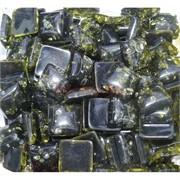 Кабошоны 14x14 квадратные из зеленого янтаря