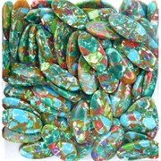 Кабошоны 15x30 вытянутый овал из цветной мозаики