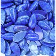 Кабошоны 15x30 капля из синего лазурита