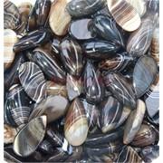 Кабошоны 15x30 капля из коричневого цветного агата