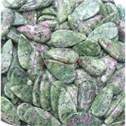 Кабошоны 15x30 капля из цоизита