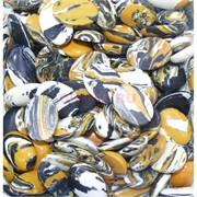 Кабошоны 18x25 овал из желто-белой мозаики