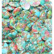 Кабошоны 18x25 овал из цветной мозаики