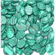 Кабошоны 15x20 капля из малахита