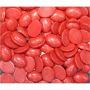 Кабошоны овальные 15x20 из красного коралла с прожилками