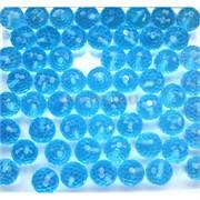 Бусины кабошоны граненые 10 мм из стекла голубые