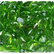 Кабошоны 13x18 «бриллиант» из стекла зеленые