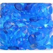 Кабошоны 13x18 «бриллиант» из стекла голубые