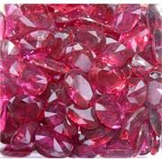 Кабошоны 13x18 «бриллиант» из стекла красные