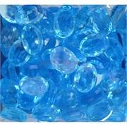 Кабошоны 13x18 из голубого стекла новая огранка