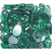 Кабошоны 13x18 из зеленого стекла новая огранка