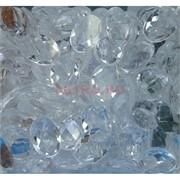 Кабошоны 13x18 из белого стекла новая огранка