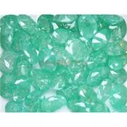 Кабошоны граненые 12x16 из зеленого стекла