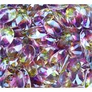 Кабошоны граненые 12x16 фиолетовые (фианит)