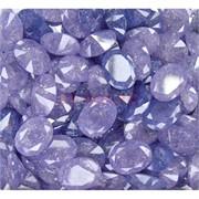 Кабошоны граненые 12x16 из фиолетового стекла