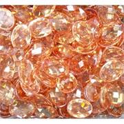 Кабошоны граненые 12x16 из оранжевого стекла