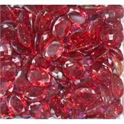 Кабошоны граненые 12x16 из красного стекла