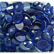 Кабошоны граненые 12x16 из синего стекла