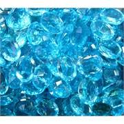Кабошоны граненые 12x16 из голубого стекла